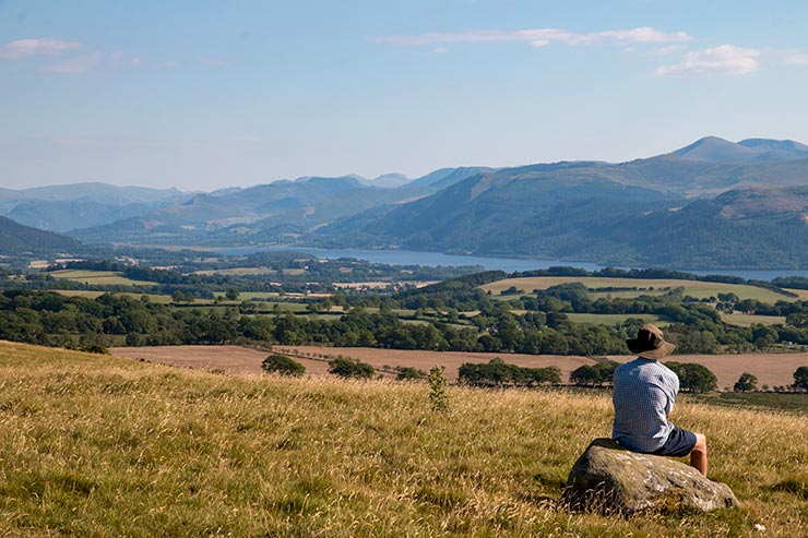 Lakeland Fells and Bassenthwaite Lake